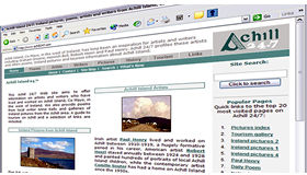 Achill247 web site, created by Digital Acla